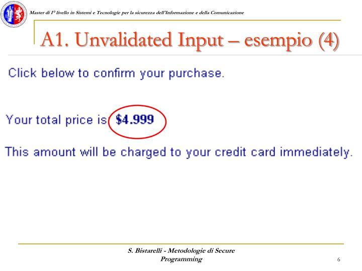 A1. Unvalidated Input – esempio (4)