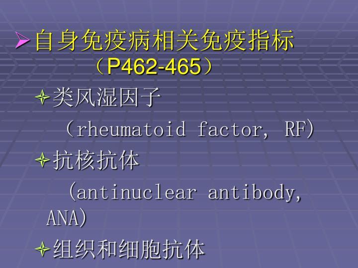自身免疫病相关免疫指标