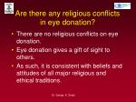 are there any religious conflicts in eye donation