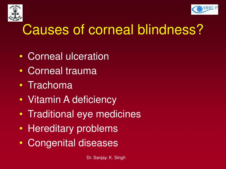 Causes of corneal blindness