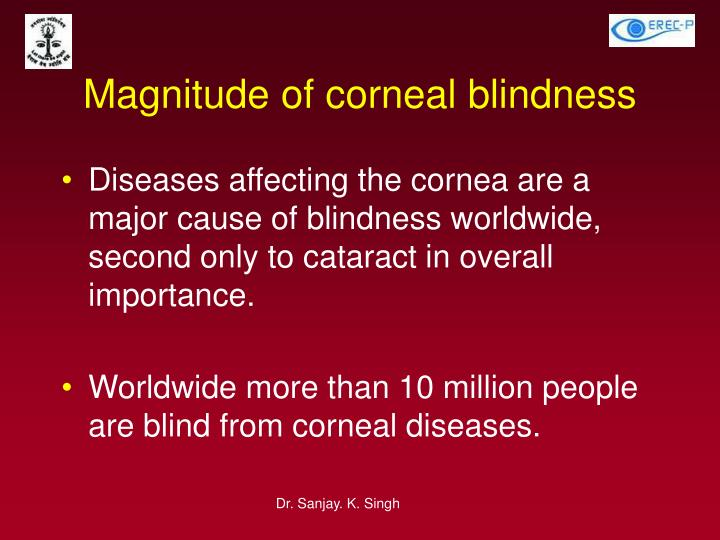 Magnitude of corneal blindness