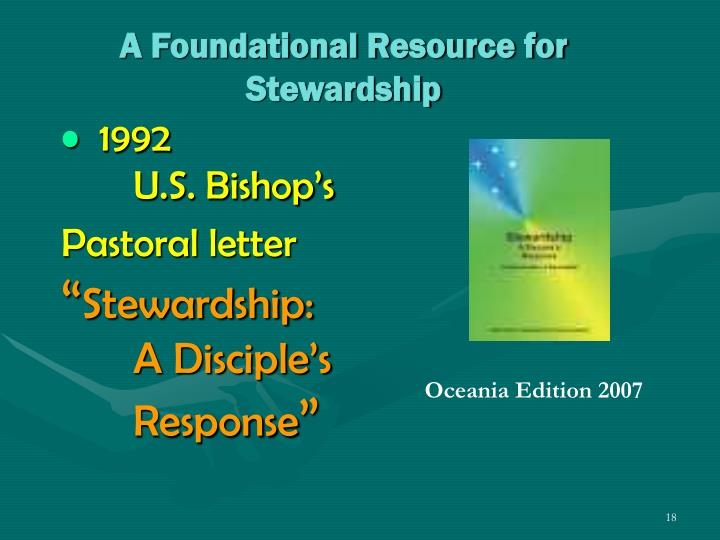 A Foundational Resource for  Stewardship