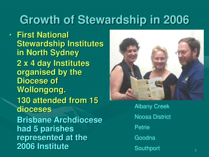 Growth of Stewardship in 2006