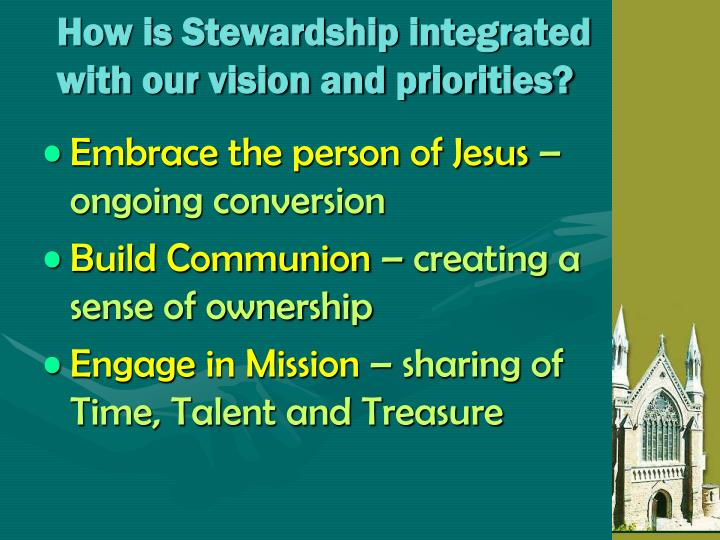 How is Stewardship integrated