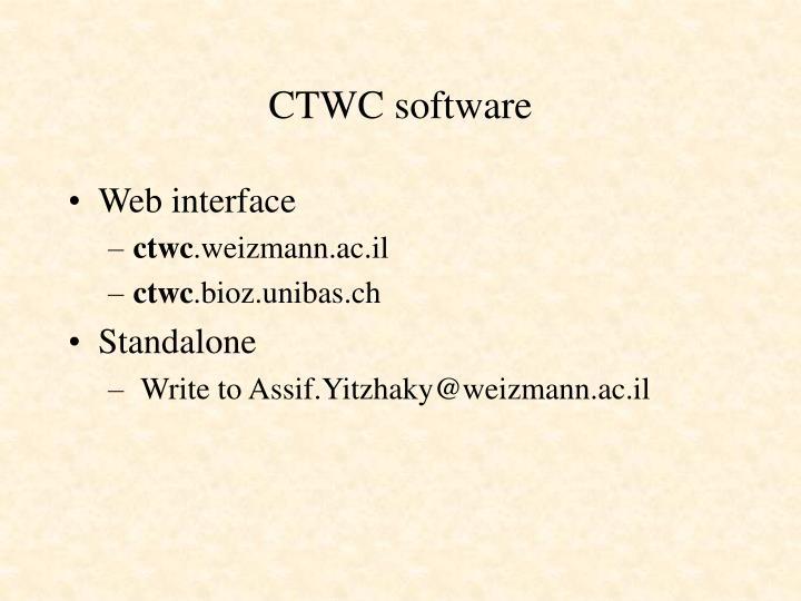CTWC software