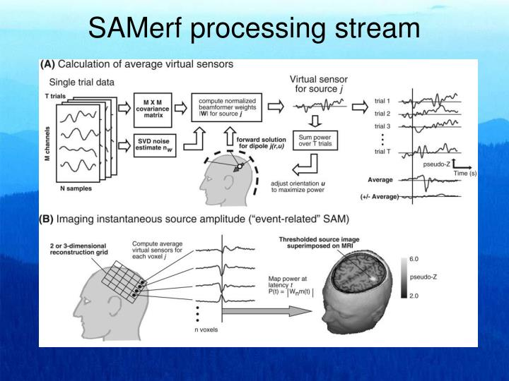 SAMerf processing stream