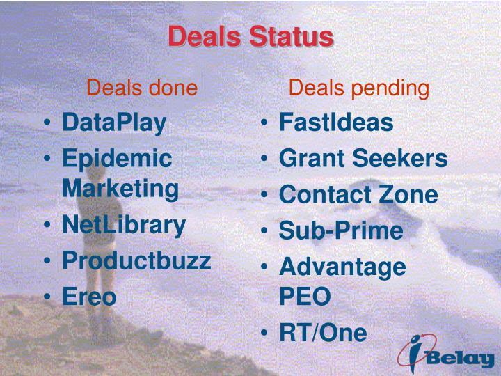 Deals done