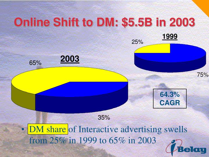 Online Shift to DM: $5.5B in 2003