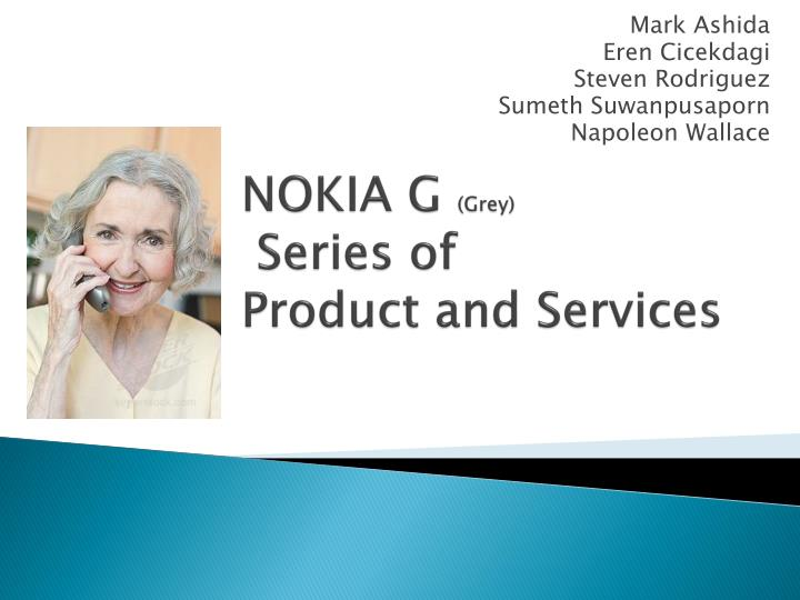 Nokia g grey series of product and services