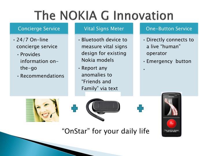 The NOKIA G Innovation