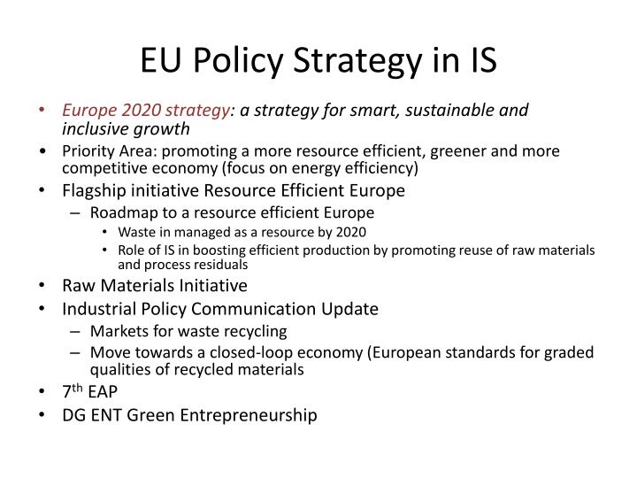 EU Policy Strategy in