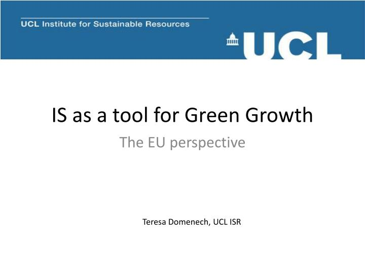 is as a tool for green growth