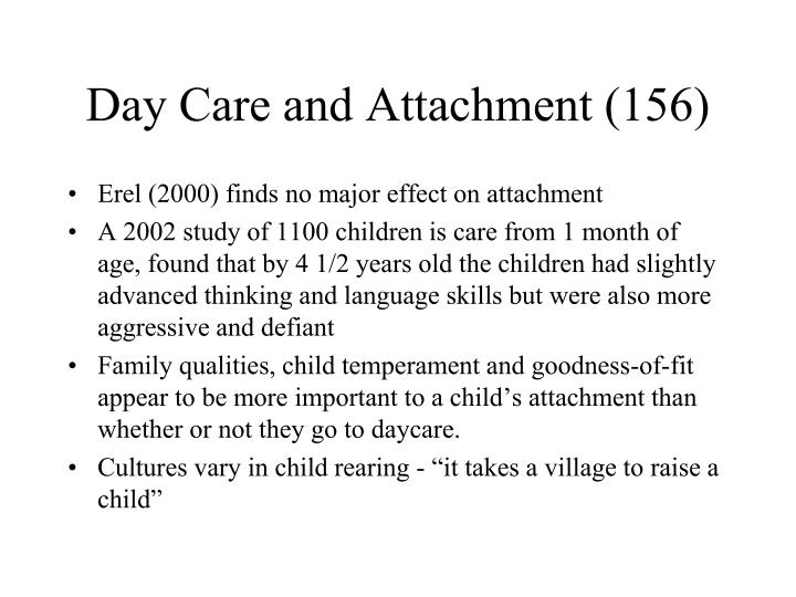 Day Care and Attachment (156)
