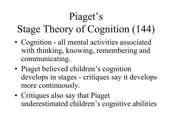 Piaget's