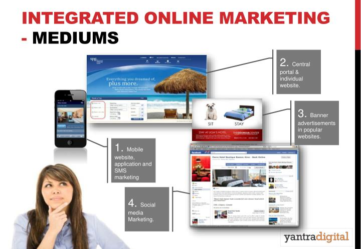 Integrated online marketing mediums
