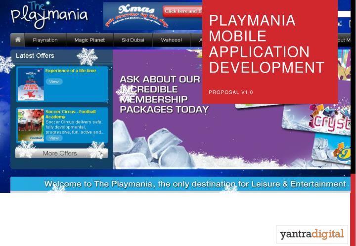 Playmania mobile application development proposal v1 0