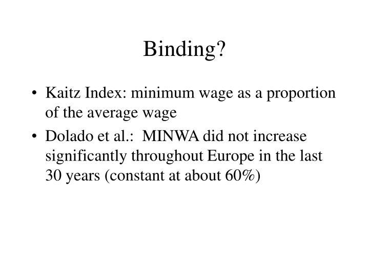 Binding?