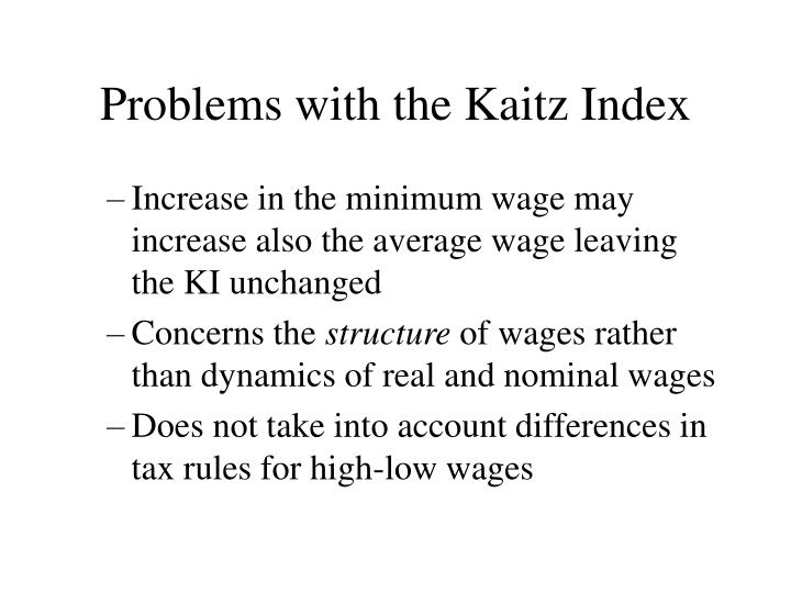 Problems with the Kaitz Index