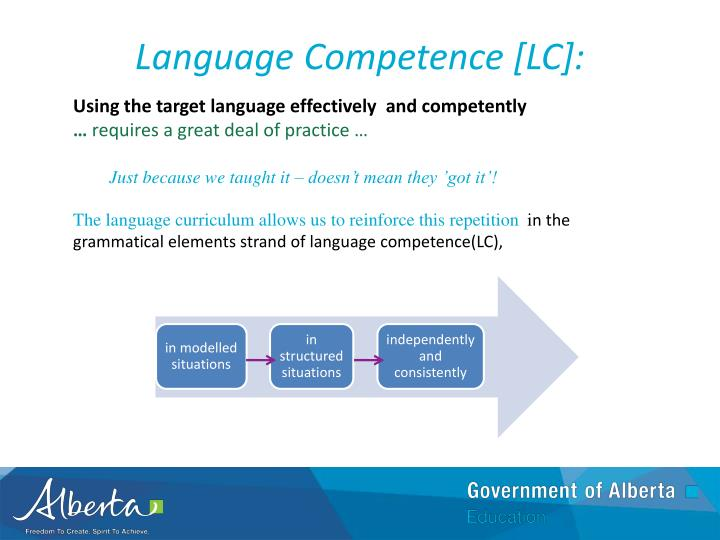 Language Competence [LC]: