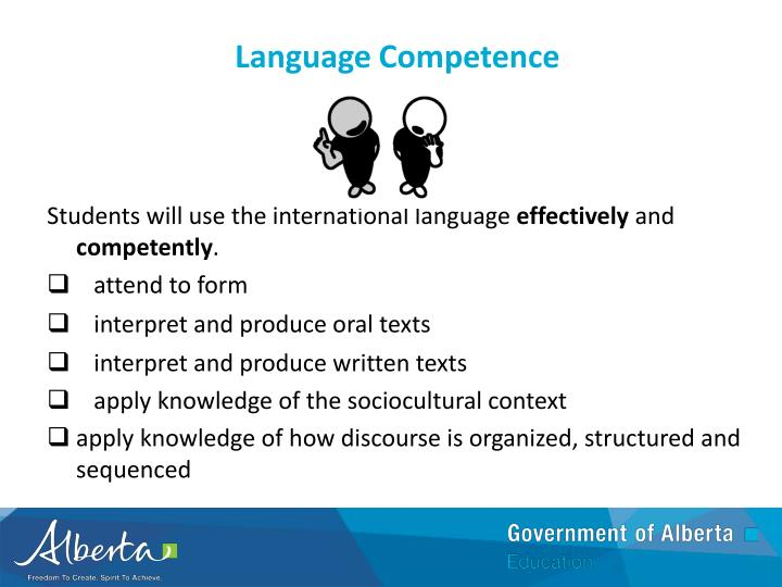 Language Competence