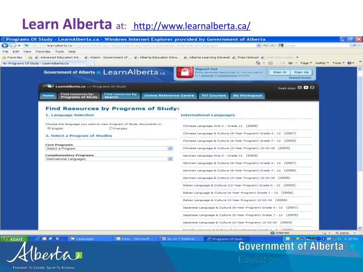 Learn Alberta