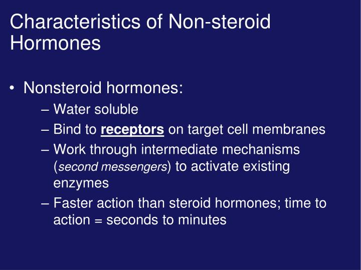 Characteristics of Non-steroid Hormones