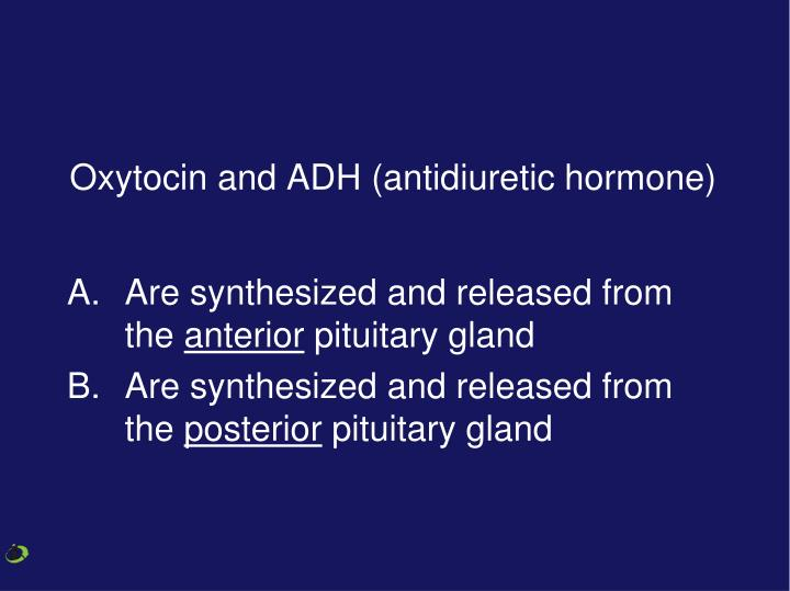 Oxytocin and ADH (antidiuretic hormone)