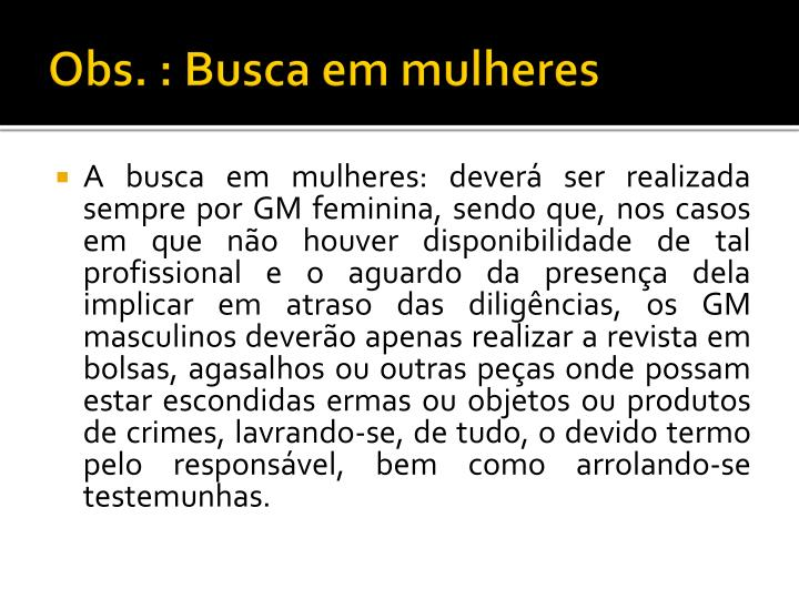 Obs. : Busca em mulheres