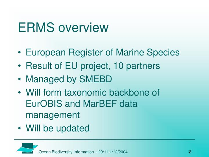 ERMS overview
