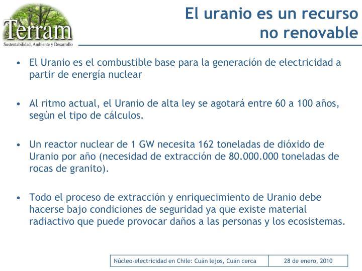 El uranio es un recurso