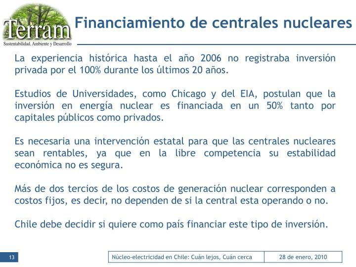 Financiamiento de centrales nucleares