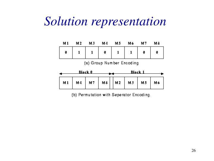 Solution representation