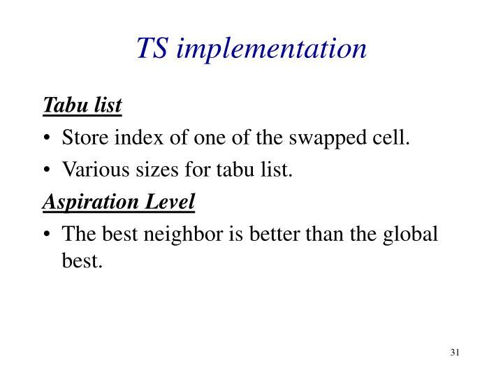 TS implementation