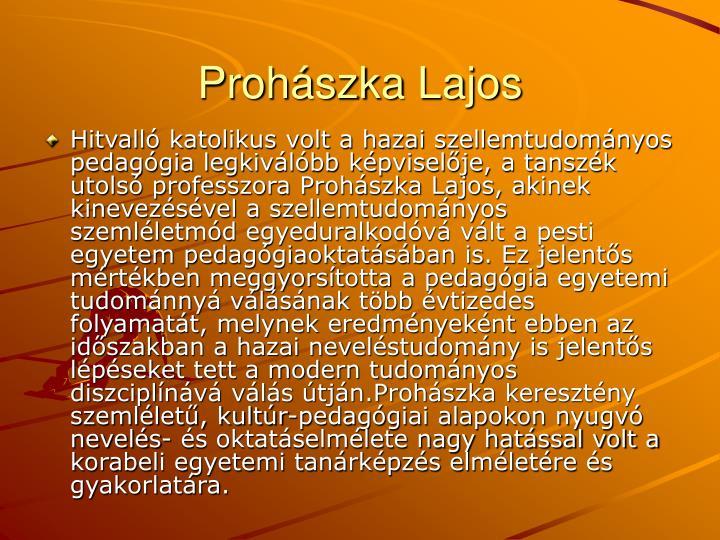 Prohszka Lajos