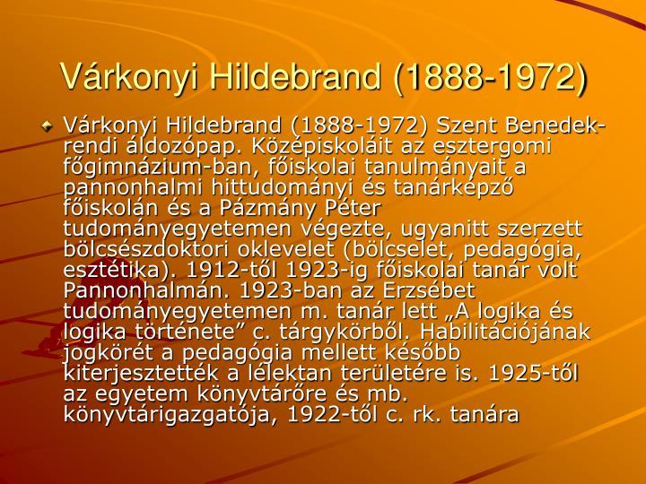 Vrkonyi Hildebrand (1888-1972)
