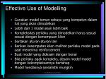 effective use of modelling