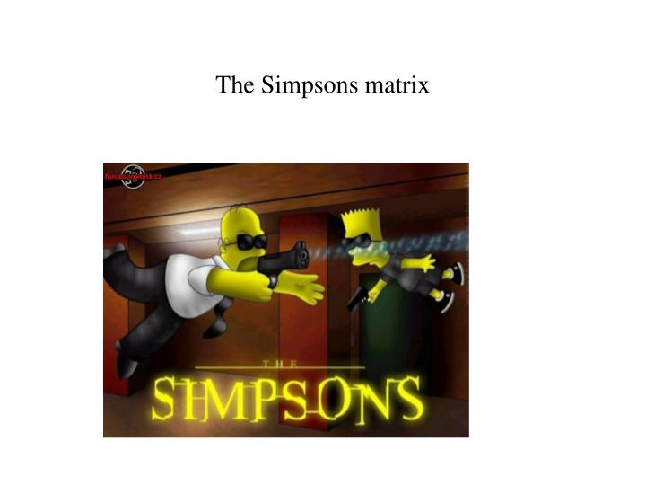 The Simpsons matrix