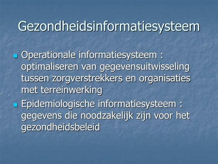 Gezondheidsinformatiesysteem