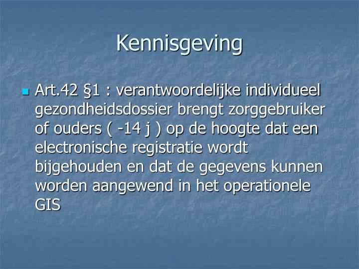 Kennisgeving