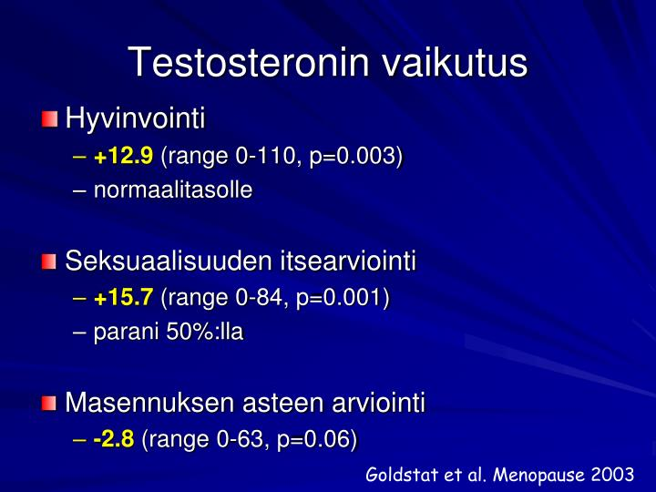 Testosteronin vaikutus
