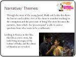 narrative themes