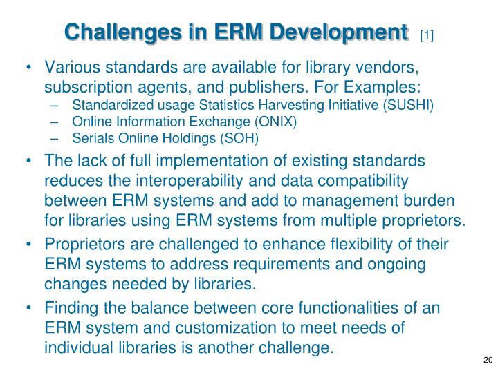 Challenges in ERM Development