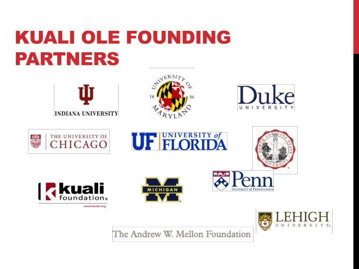 Kuali OLE founding partners