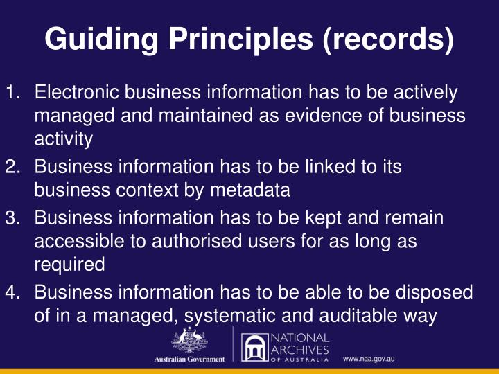 Guiding Principles (records)