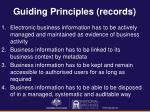 guiding principles records