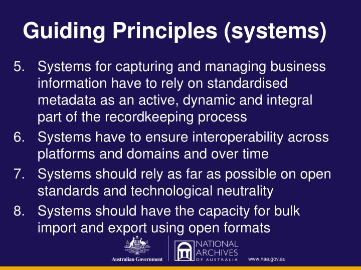 Guiding Principles (systems)