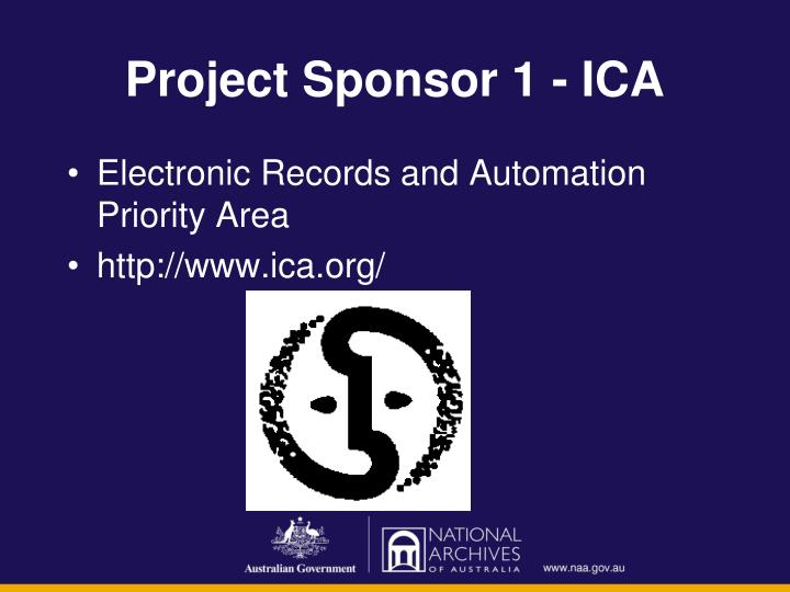Project Sponsor 1 - ICA
