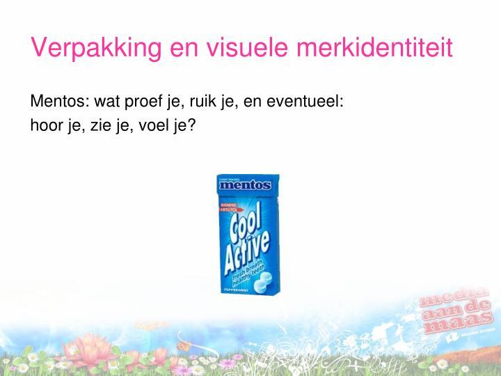 Verpakking en visuele merkidentiteit