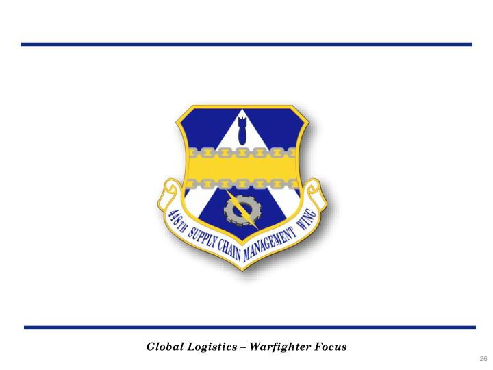 Global Logistics – Warfighter Focus