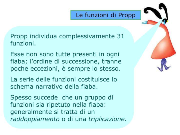 Le funzioni di Propp